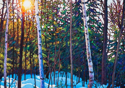 "Blue Shadows, Mont Tremblant 36"" by 36"""