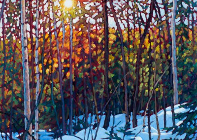 "Morning Jazz, Mont Tremblant 24"" by 24"""