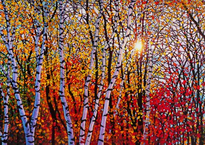 "October Glory Afternoon Sun 36"" by 72"""