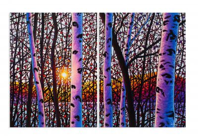 "A Morning to Remember 48"" by 72"" Diptych"