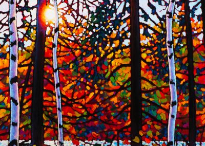 """Afternoon Sparkle Orphan Lake 24"""" by 24"""""""