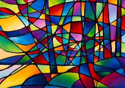 """Algoma Abstraction 24"""" by 24"""""""