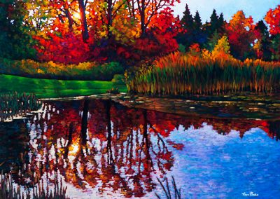 """Autumn Reflections 30"""" by 40"""""""