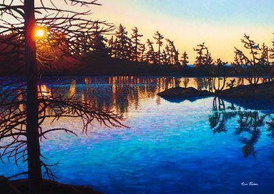 "Blue Tranquility 36"" by 60"""