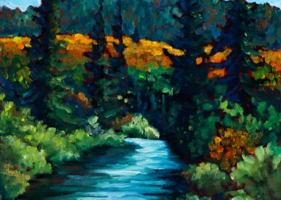 """Chippewa River, Plein Aire 14"""" by 18"""""""