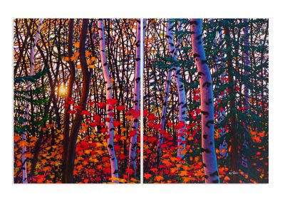 "Enchanted 48"" by 72"" Diptych"