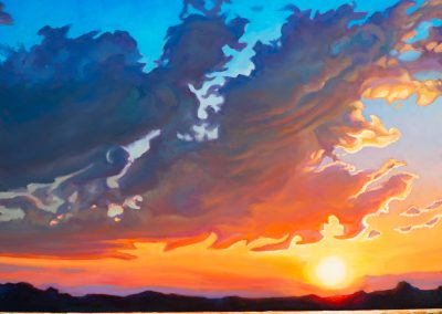 """Fire In the Sky 30"""" by 30"""""""