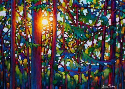 """Forest Glow, Plein Aire 18"""" by 24"""""""