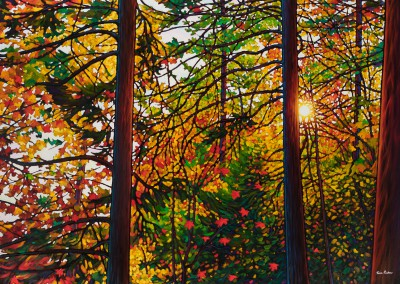 "Glowing Pines Batchewana Bay 38"" by 57"""