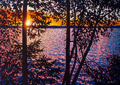 "Morning Sun, Batchewana Bay 36"" by 48"""