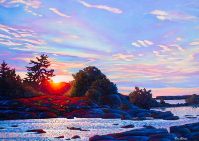 "Morning Light, North of Buckhorn 30"" by 40"""