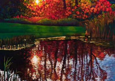 """Whitevale Reflections 24"""" by 24"""""""